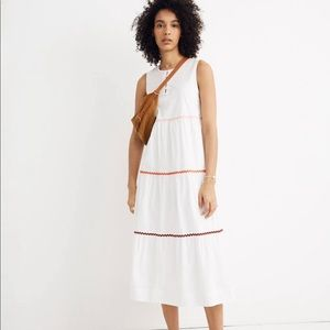 Adorable madewell Rickrack Cattail Tiered Dress